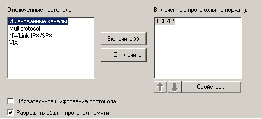 Окно 'Client Network Utility', закладка 'Общие'