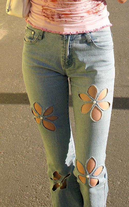 Вышивка на детских джинсах своими руками фото