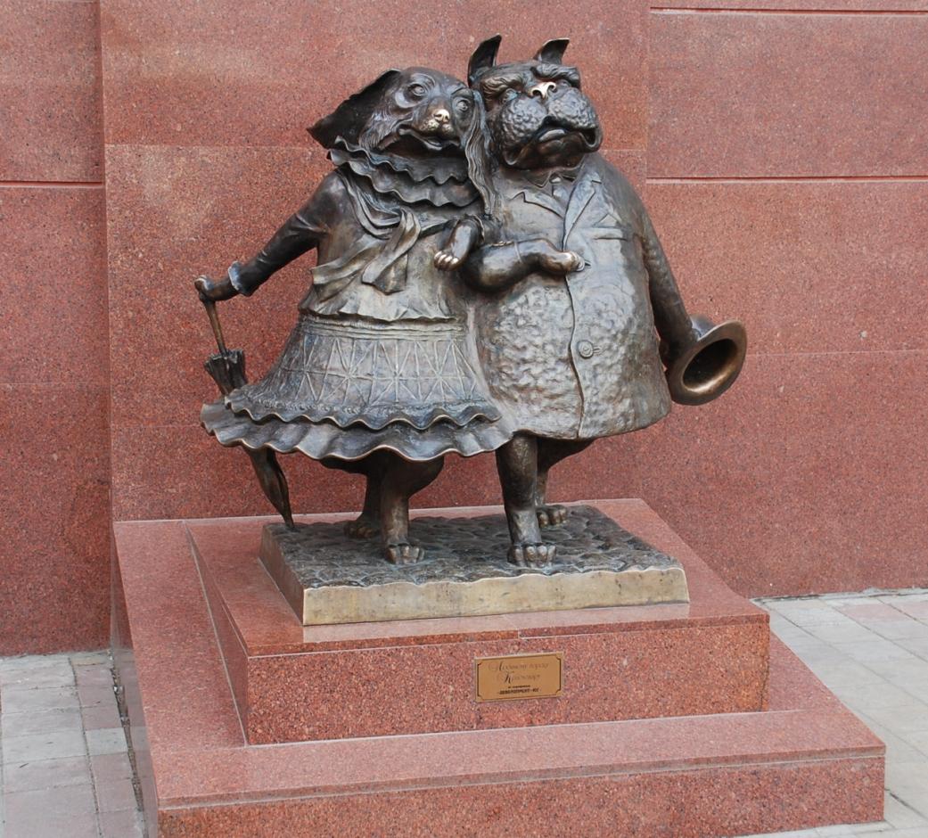 Влюбленных собачек на углу улиц Красная и Мира в Краснодаре, стала