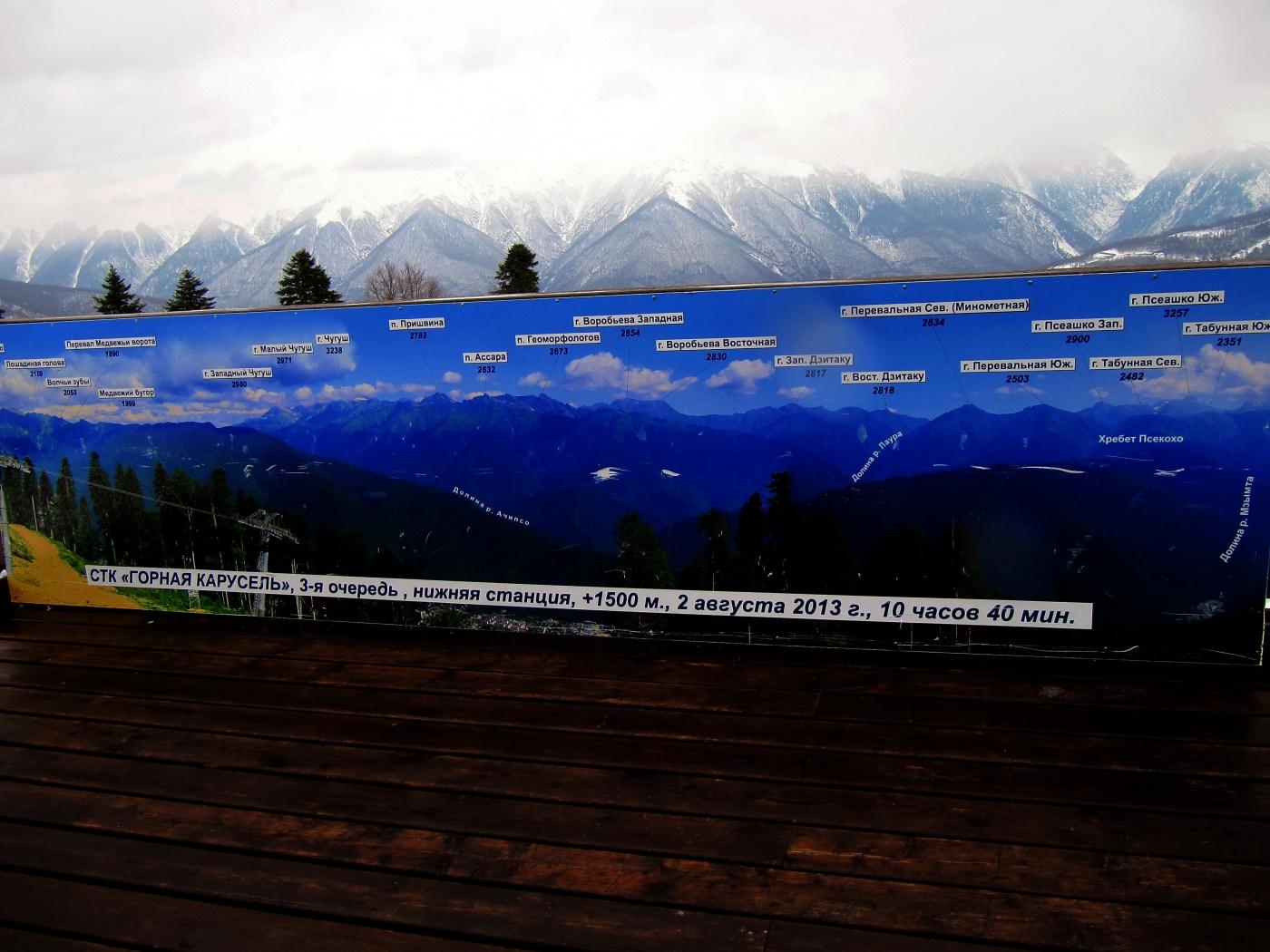 фотография, сделанная летом на фоне зимних гор