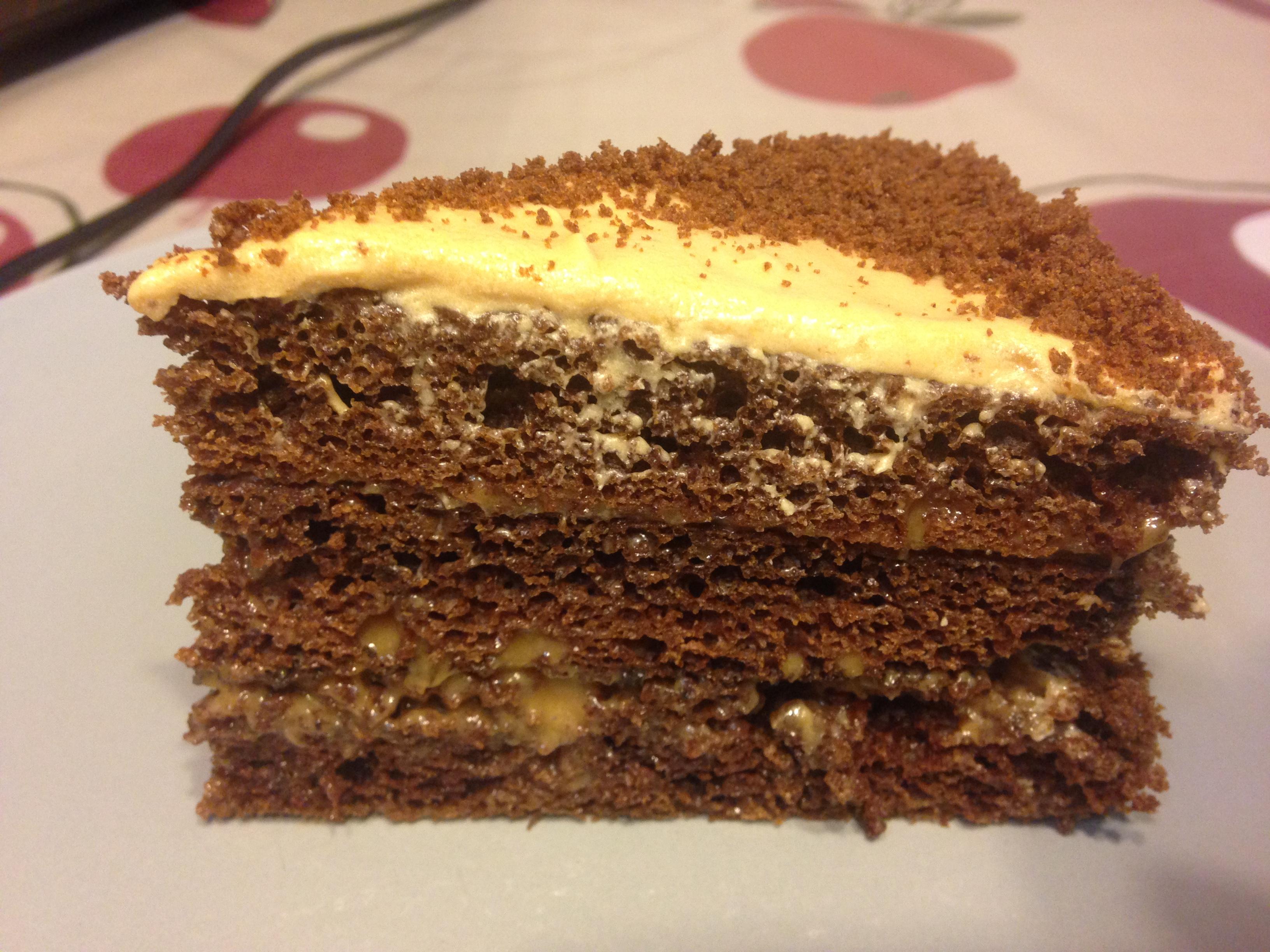 Рецепт торта с кефиром и какао