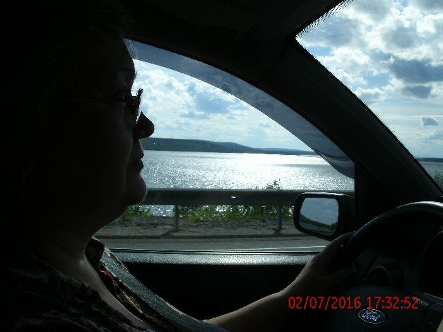 Вот такие бескрайние озера были по пути