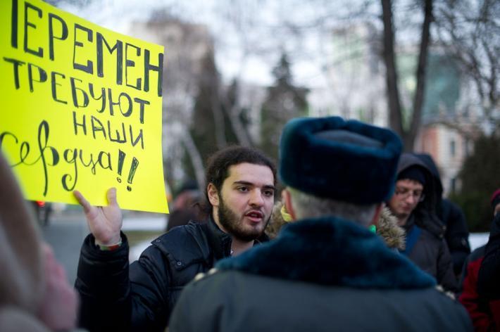 Кубань Ткачёва. Мирное собрание граждан завершилось задержаниями (Фото и видеорепортаж Б.Мальцева)